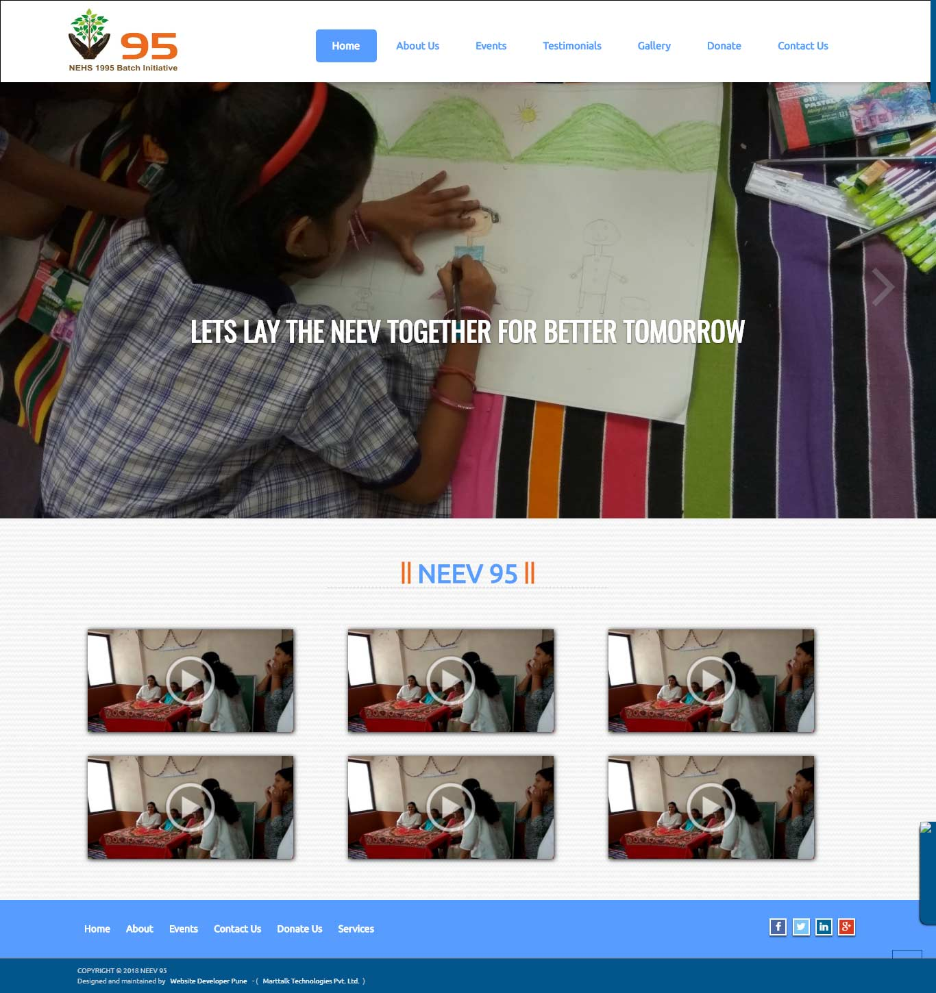 neev95-org-website-developer-pune-portfolio